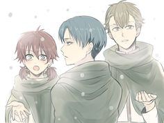 Isabel, Levi, and Farlan // AoT<<< one moment *cries in corner*