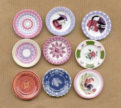SEVEN ways to make miniature dollhouse-sized dishes from Fimo dough - well illustrated (Fr) | Source: J. Colin, Miniatures