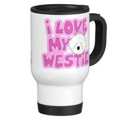 I Love My Westie Travel Mug