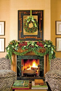 Trim the Fireplace | Bring cheer to your house this holiday season with these easy decorating ideas. Everyone loves decorating for Christmas. Grab your garland and get ready for wreaths, because here, the editors of Southern Living share some of their favorite new ideas for Christmas decorating. These decorating ideas for your mantel, front door, mailbox, Christmas tree, and more will surely fill you with Christmas cheer. We show you how to give a twist on tradition with handmade…