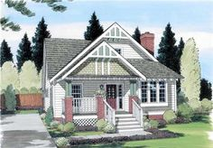 This attractive bungalow style home plan with an inviting covered porch can accommodate a large family. With not one square foot of wasted space, this four-bedroom home plan is the perfect habitation for the summer months. The efficient kitchen offers an eating booth, ample cabinet and counter space and all the modern conveniences to make meal preparation a snap. The master bedroom lets you have your privacy from the kids, it also boasts ample closet space and a private bath. The living room…