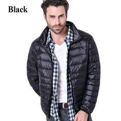 c3fbe1250d5 Ultralight Jacket White Duck Down Winter Men Jacket Outdoors Male Casual