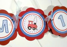 Train Themed Birthday Banner   I AM 1 MINI by getthepartystarted, $10.00
