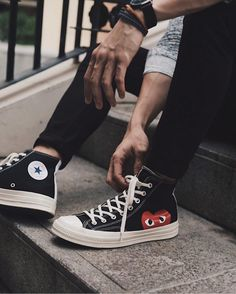 "4,118 Likes, 24 Comments - CDG PLAY | COMME des GARÇONS (@commedesgarconsxplay) on Instagram: ""@iamlarbs in Converse X COMME des GARÇONS PLAY #CommedesGarconsPLAY #CommedesGarcons"""