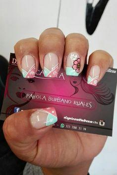 Spring Nail Art, Spring Nails, Cute Nails, Pretty Nails, Nail Manicure, Beauty Nails, Hair And Nails, Nail Designs, Make Up