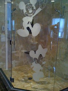 Mickey & Minnie Mouse Shower Decals