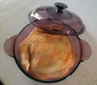 Roasted chicken in a dutch oven. Super tender and moist.