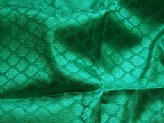 Sea Green Indian Jacquard Brocade Wedding Dress Fabric By The | Etsy