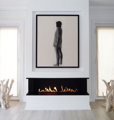 Awesome Contemporary Fireplace Design Ideas 1 (Awesome Contemporary Fireplace Design Ideas design ideas and photos Relax Zone Vented Gas Fireplace, Linear Fireplace, Fireplace Mantle, Fireplace Ideas, Painting Fireplace, Fireplace Makeovers, Simple Fireplace, Fireplace Kitchen, White Fireplace