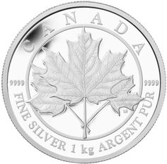 Big 1kg Silver Maple Leaf coin from Canada - ask us if you want one...