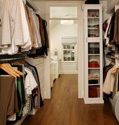 Closet Organiztion Tips - Glass Fronted Sweater Closet - Click Pic for 36 DIY Closet Organizer Ideas