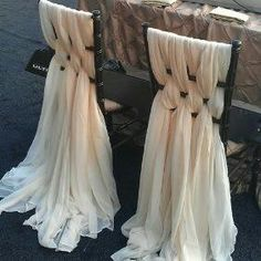 Brides  chair.. .easy to achieve with cheap chiffon from the Indian fabric shop                                                                                                                                                                                 More