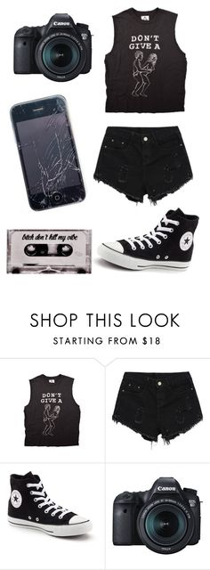 """""""What would you do if your son was at home cryin' all alone on the bedroom floor..."""" by emo-kyleigh ❤ liked on Polyvore featuring UNIF, Converse, Eos and bedroom"""