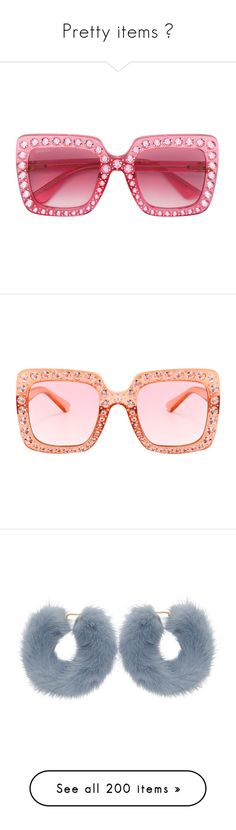 """""""Pretty items 💕"""" by diamonddolll ❤ liked on Polyvore featuring accessories, eyewear, sunglasses, glasses, gucci glasses, acetate sunglasses, over sized sunglasses, pink glasses, oversized sunglasses and square sunglasses"""