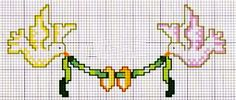 Colombe per matrimonio - punto croce - cross Stitch - Kreuzstich - Punto de Cruz