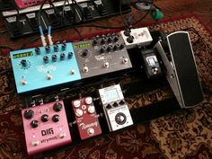 Reworking the pedalboard.