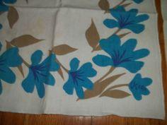 Vintage Set 4 Vera Napkins Blue Floral Fabric 16 x 16 Vera Neuman | eBay