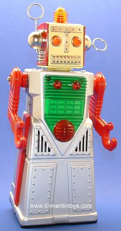 Toy Robot | Vintage and Retro Space Age Raygun, Rocket and Robot Toys | Sugary.Sweet | #SpaceAge #Toy #Robot #SciFi
