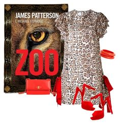 """""""Zoo by James Patterson"""" by kimzarad1 ❤ liked on Polyvore featuring Brognano, Christian Louboutin, ZENZii and Salvatore Ferragamo"""