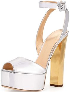 a639fb621d02 Giuseppe Zanotti  Lavinia  Metallic Leather High-Heel Sandal Shoes Heels  Boots
