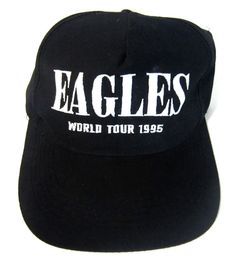 175f466a195 Vintage The Eagles (Band) Hell Freezes Over 1995 World Tour Snapback Hat Cap