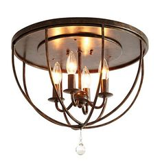 """Orb Ceiling Mount. Dimensions: 10""""H X 16"""" Diameter. Made of wrought iron. Uses 4 type C 60W max bulbs. Hardwire. I purchased this for my kitchen and it looks fantastic!"""