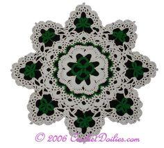 St Patrick's day - Shamrock and Irish knot doily - plus more freebies