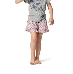 Paper Wings Pink Frilled Shorts