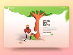Environmental Preservation Landing Page Concept designed by Minh Pham ✪. Connect with them on Dribbble; the global community for designers and creative professionals. Up Animation, Sign Up Page, Ui Design Inspiration, Mobile App Design, Motion Design, User Interface Design, Interactive Design, Design Reference, Page Design