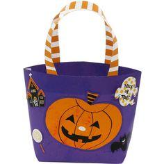 ハロウィンバッグ(紫) 無料で簡単にハロウィングッズが出来ちゃいます!自分で作って楽しんでみませんか??✨飾りつけや、お菓子を入れるバックに使ってもOK✨