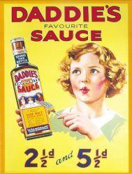Daddies Favorite Sauce Metal Wall Sign (3 sizes)