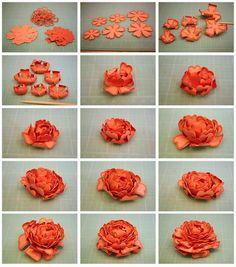 Bits of Paper: 3d Paper Flowers