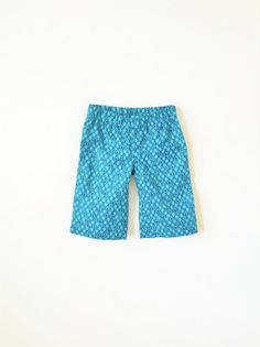 Boys Summer Shorts Turquoise Blue Toddler short by moonroomkids, $30.00