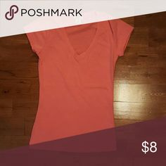 V-neck Shirt Basic V-neck Highlighter Pink Small, but fits like an XSmall Never Worn, Perfect Condition  Don't comment your offer, send it via the offer link. Remember you can also make offers on bundles. Tops Tees - Short Sleeve