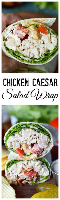 These Chicken Caesar Salad Wraps are creamy, crunchy and super fast to through together.