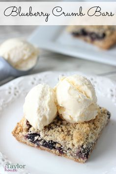 Blueberry Crumb Bars - these look YUMMY!!!
