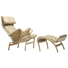Pernilla 2 chair with ottoman by Bruno Mathsson