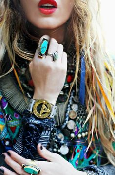 [Accessorize like a hippie]