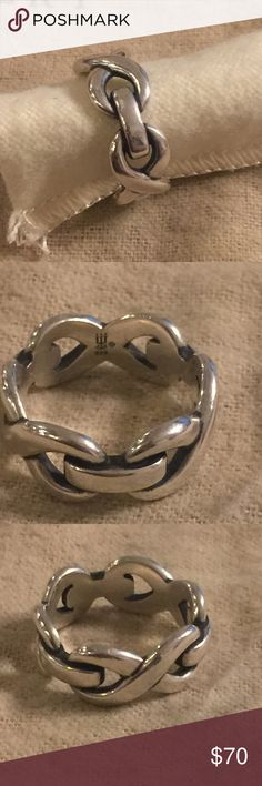 James Avery infinity band Sz 6.5 Sterling. Normal wear James Avery Jewelry Rings