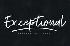 Exceptional font by