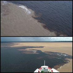 Cada año la ciudad de Manaos (Brasil)es protagonista de un fenómeno conocido como el Encuentro de las Aguas.   El Río Negro tiene el agua oscura, mientras que las aguas del Amazonas son de color arena. Las aguas de ambos ríos fluyen durante casi cuatro kilómetros sin mezclarse.   Hay tres razones para que se produzca este extraño fenómeno: la velocidad a la que viajan las aguas, la densidad y la temperatura. El Amazonas fluye a unos 6 km/h, mientras que el Río Negro lo hace a 2 km/h.