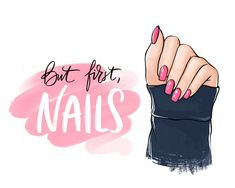 Main de belle femme avec du vernis à ong. Nail Salon Design, Nail Salon Decor, Nail Polish Bottles, Pink Nail Polish, Pink Nails, Nail Memes, Nail Quotes, Nail Logo, Lip Scrub Homemade