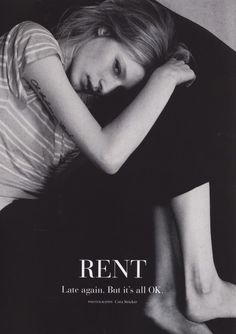 "virare:  ""Rent, Late Again. But it's all OK"", Julia Nobis by Cara Stricker for RUSSH #48"