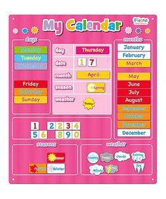 Look at this #zulilyfind! Pink 14'' Magnetic Calendar #zulilyfinds