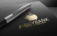 Piggy Bank Logo Template by Josuf Media on @creativemarket