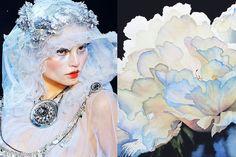 Fashion art flower design haute couture love passion photo