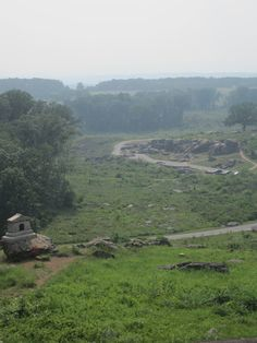 Gettysburg--I believe this is a view of Devil's Den from the top of Little Roundtop