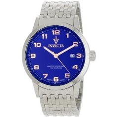 Invicta Men's 0614 Vintage Blue Dial Stainless Steel Watch (Watch)  http://postteenageliving.com/amazon.php?p=B004PALAGY