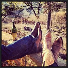 Driftwood Estates - boots and Texas Wine