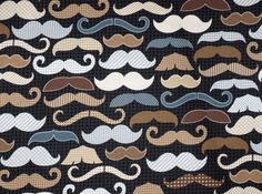 Moustache Baby Sheets - Standard or Mini Crib Sheets / Nursery Bedding / Babiease Baby Boutique